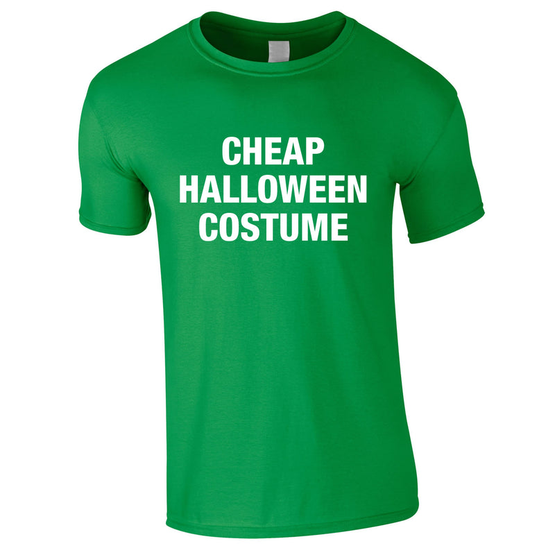 Cheap Halloween Costume Tee In Green