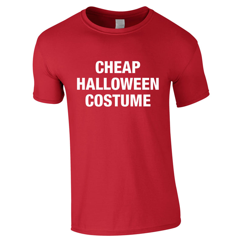 Cheap Halloween Costume Tee In Red