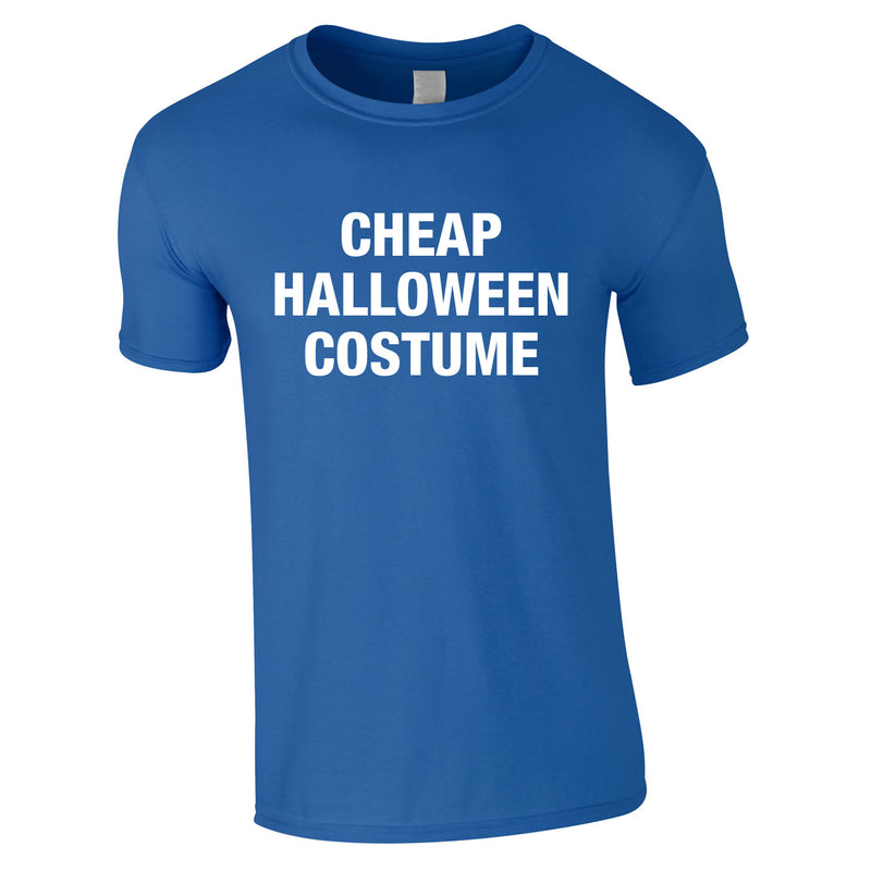 Cheap Halloween Costume Tee In Royal