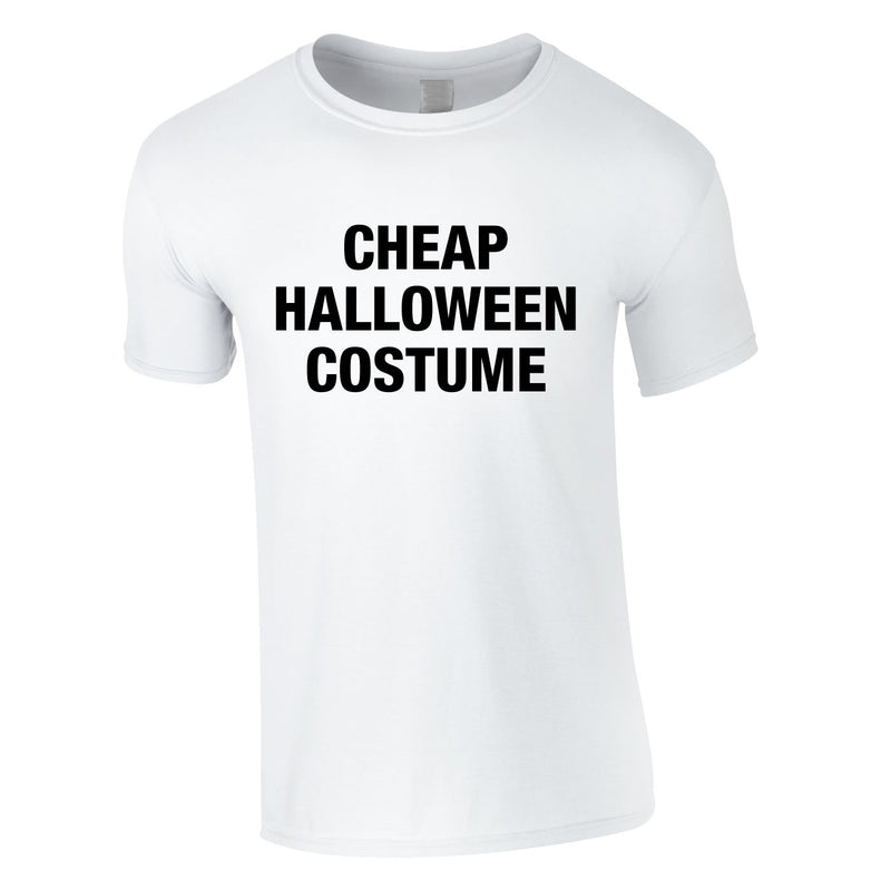 Cheap Halloween Costume Tee In White