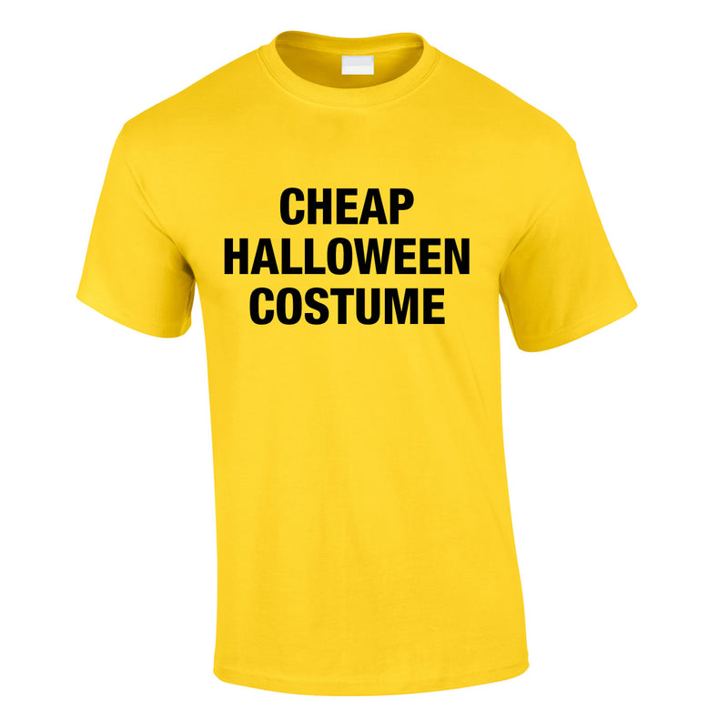 Cheap Halloween Costume Tee In Yellow