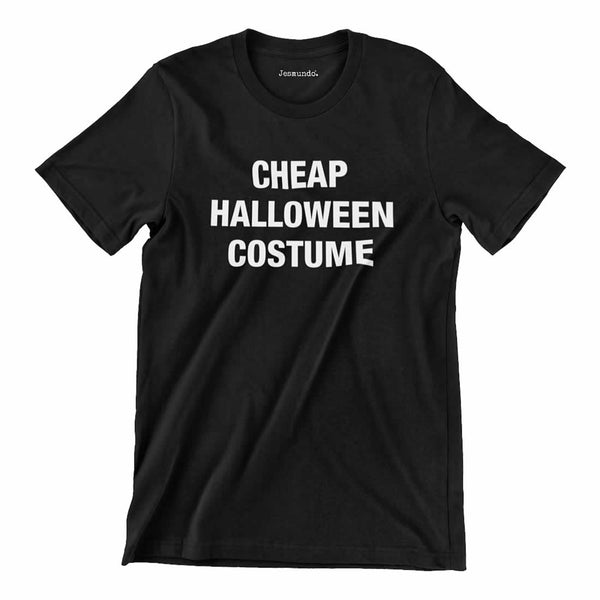 Cheap Halloween Costume Tee In Black