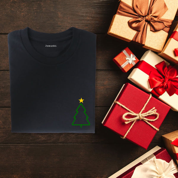 Christmas Tree Minimalist Design T Shirt