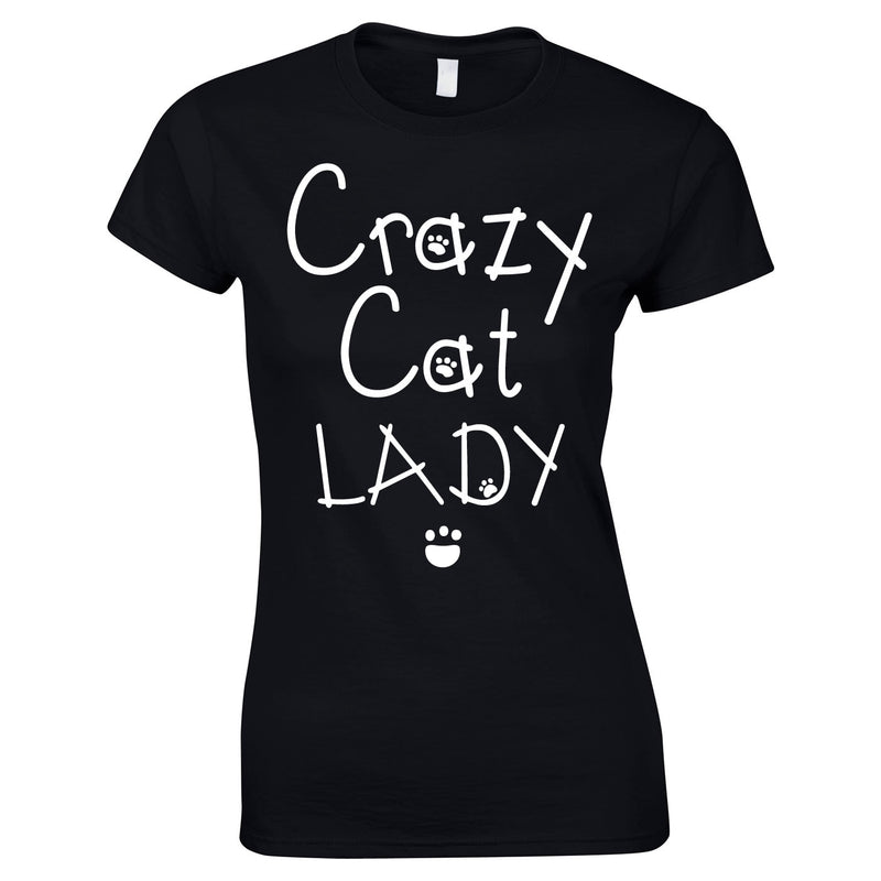 Crazy Cat Lady Women's Top In Black