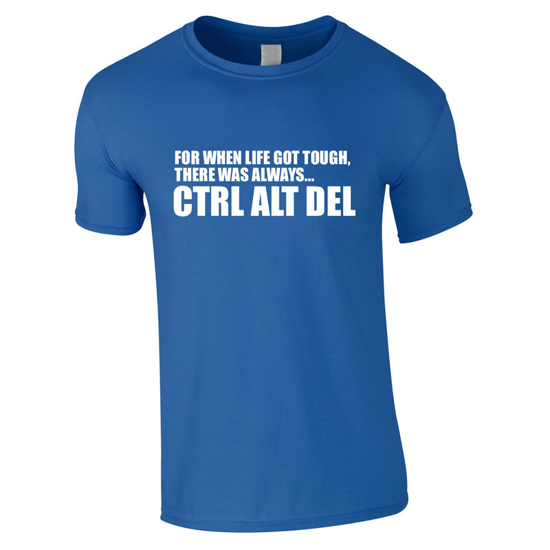 CTRL ALT DEL Tee In Royal
