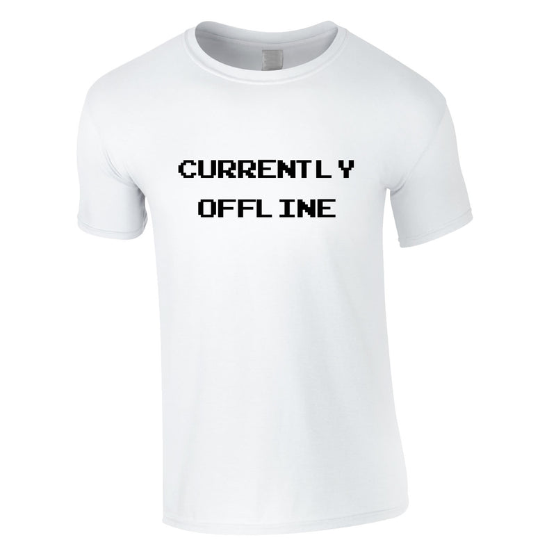 Currently Offline Tee In White