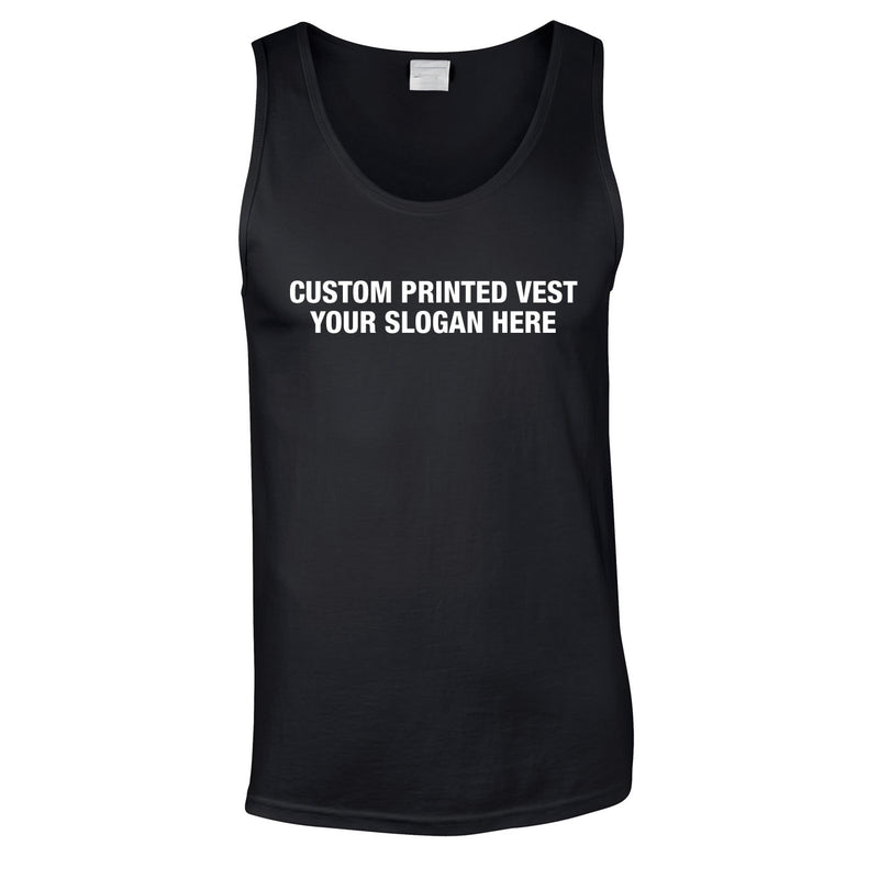 Custom Printed Vest With Extras In Black