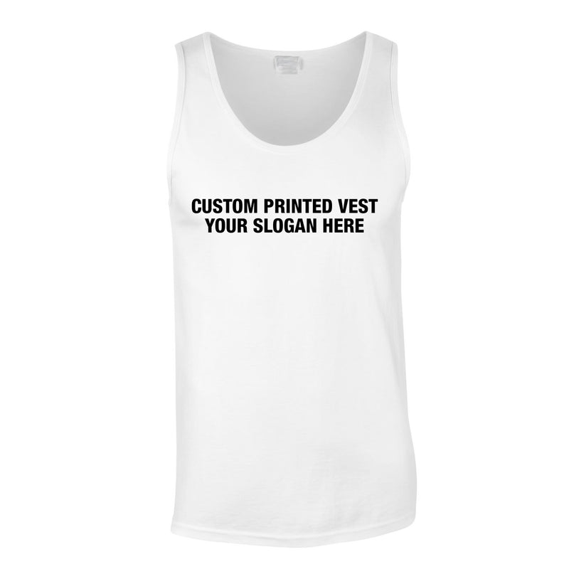 Custom Printed Vest With Extras In White