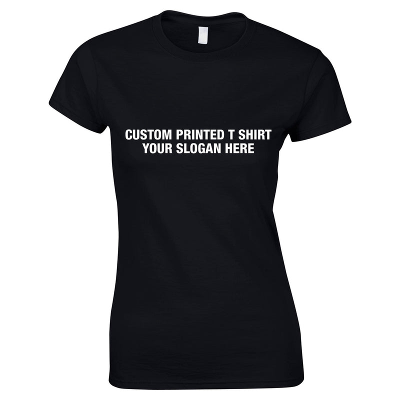 Custom Women's Tee In Black