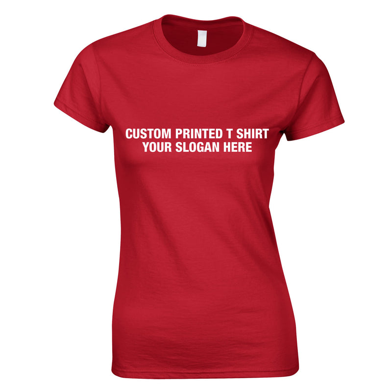 Custom Women's Tee In Red