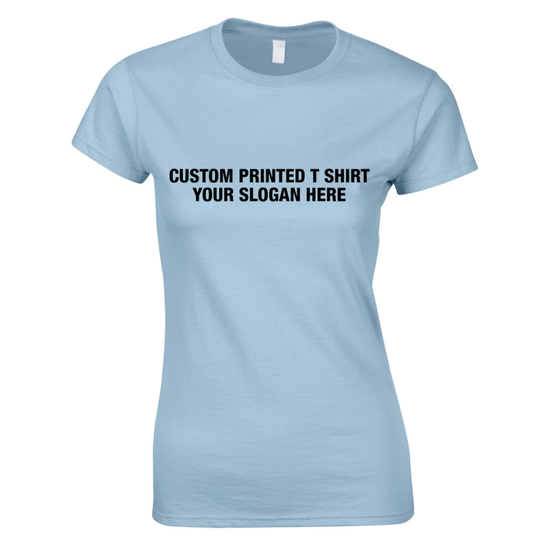 Custom Women's Tee In Sky