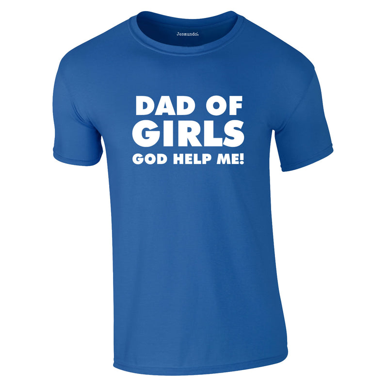 Dad Of Girls Tee In Royal