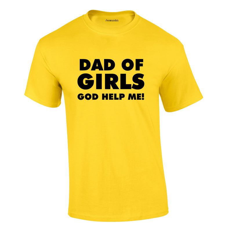 Dad Of Girls Tee In Yellow
