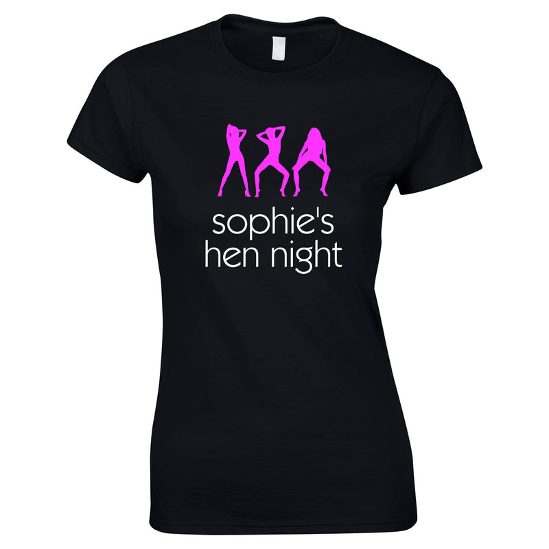 Custom Printed Hen Do Tops With Dancing Girl