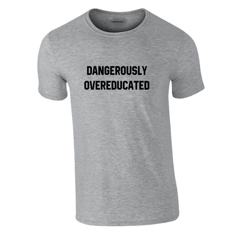 Dangerously Overeducated Tee In Grey