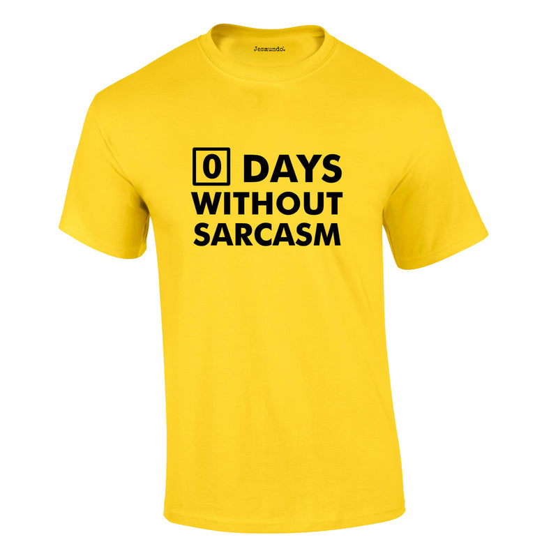 Days Without Sarcasm Tee In Yellow
