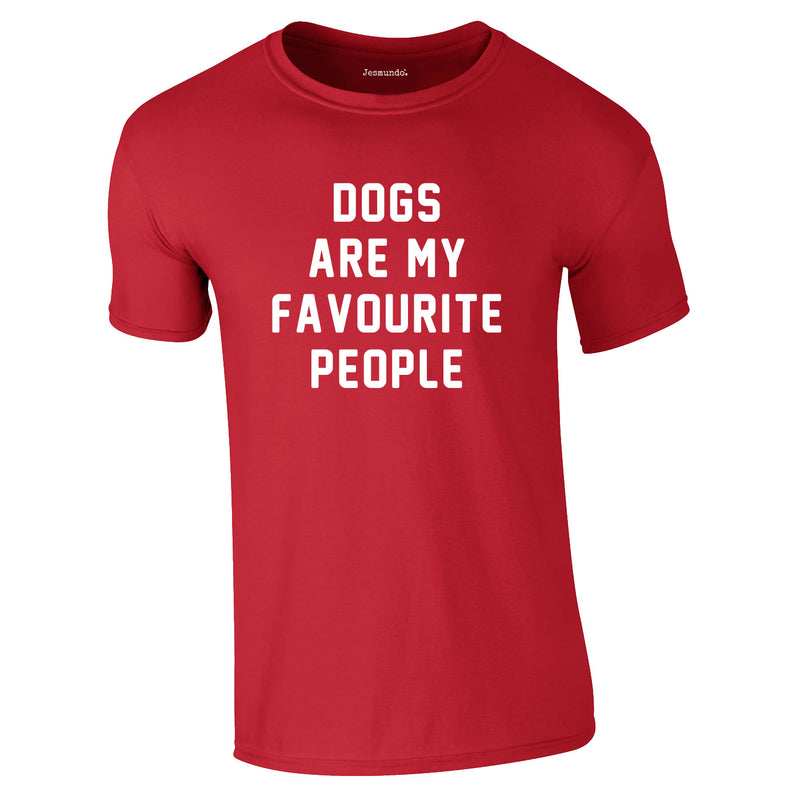 Dogs Are My Favourite People Tee In Red