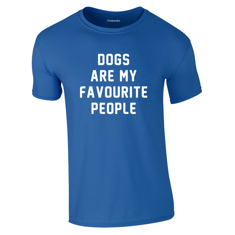 Dogs Are My Favourite People Tee In Royal