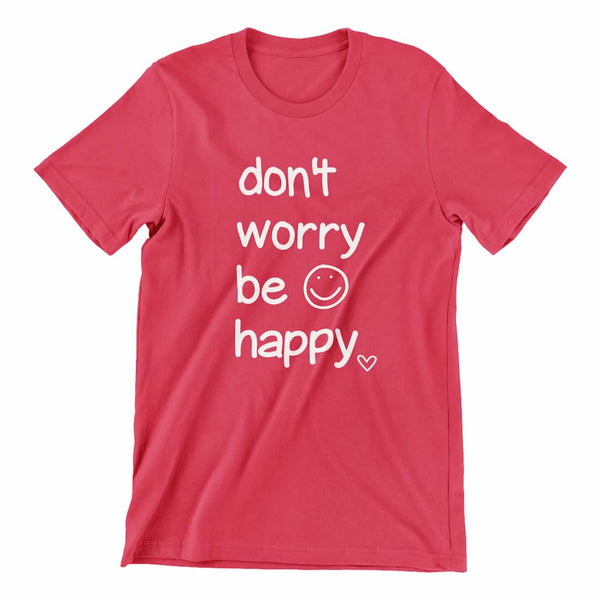 Don't Worry Be Happy Tee In Red