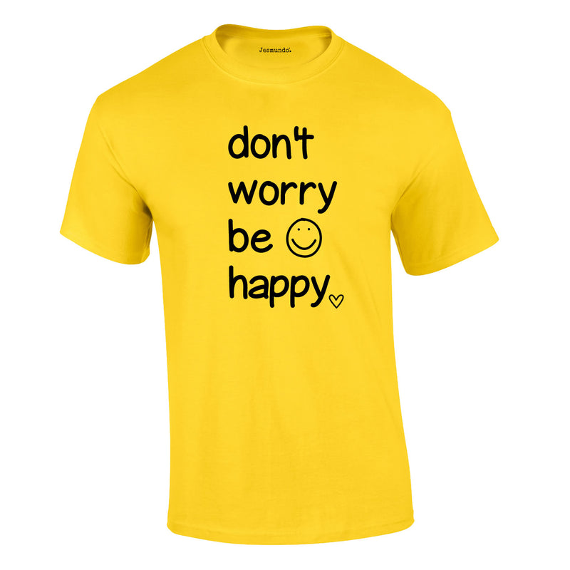 Don't Worry Be Happy Tee In Yellow
