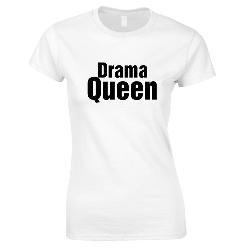 Drama Queen Top In White