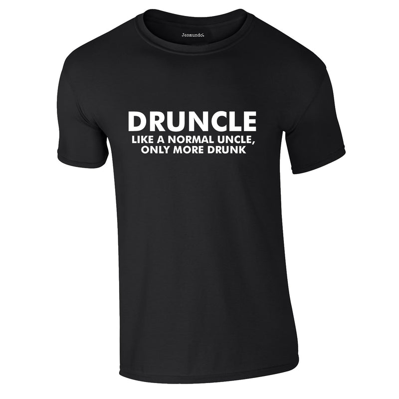 Druncle Tee In Black