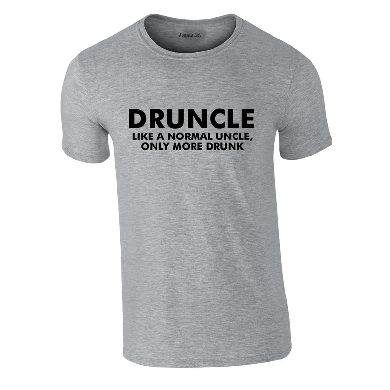Druncle Tee In Grey