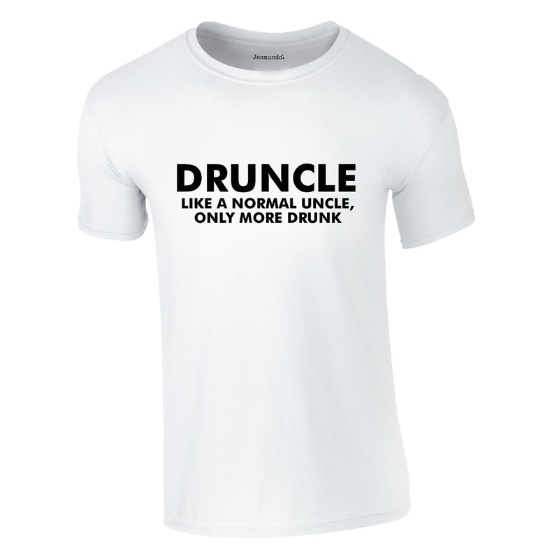 Druncle Tee In White