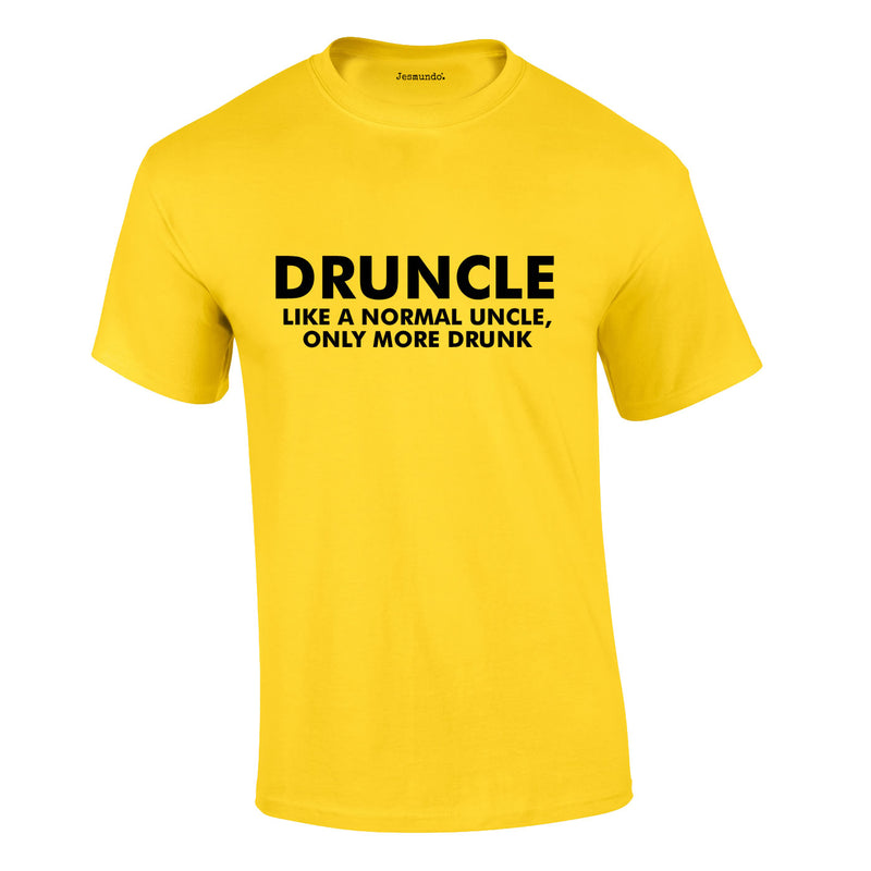 Druncle Tee In Yellow