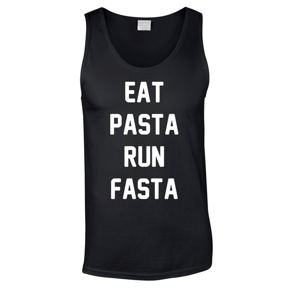 Eat Pasta Run Fasta Vest In Black