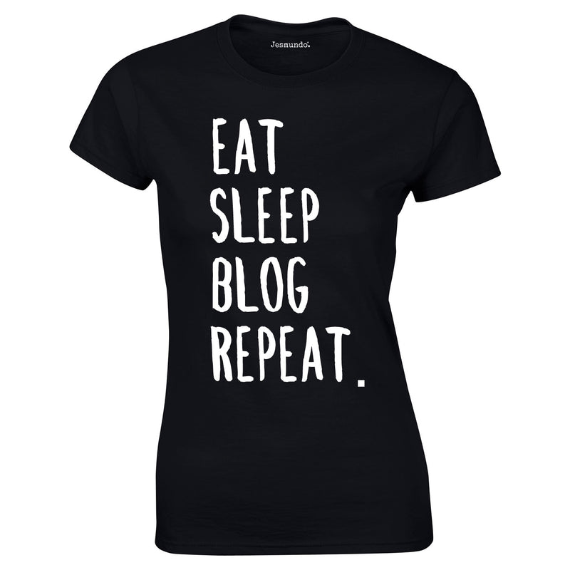 SALE - Eat Sleep Blog Repeat Womens Tee - Large