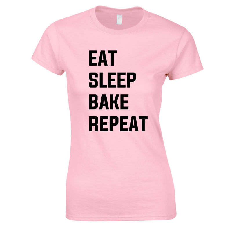 Eat Sleep Bake Repeat Top In Pink