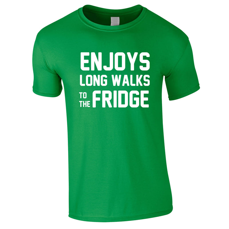 Enjoy's Long Walks To The Fridge Tee In Green