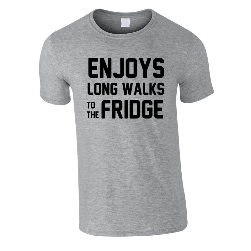 Enjoy's Long Walks To The Fridge Tee In Grey