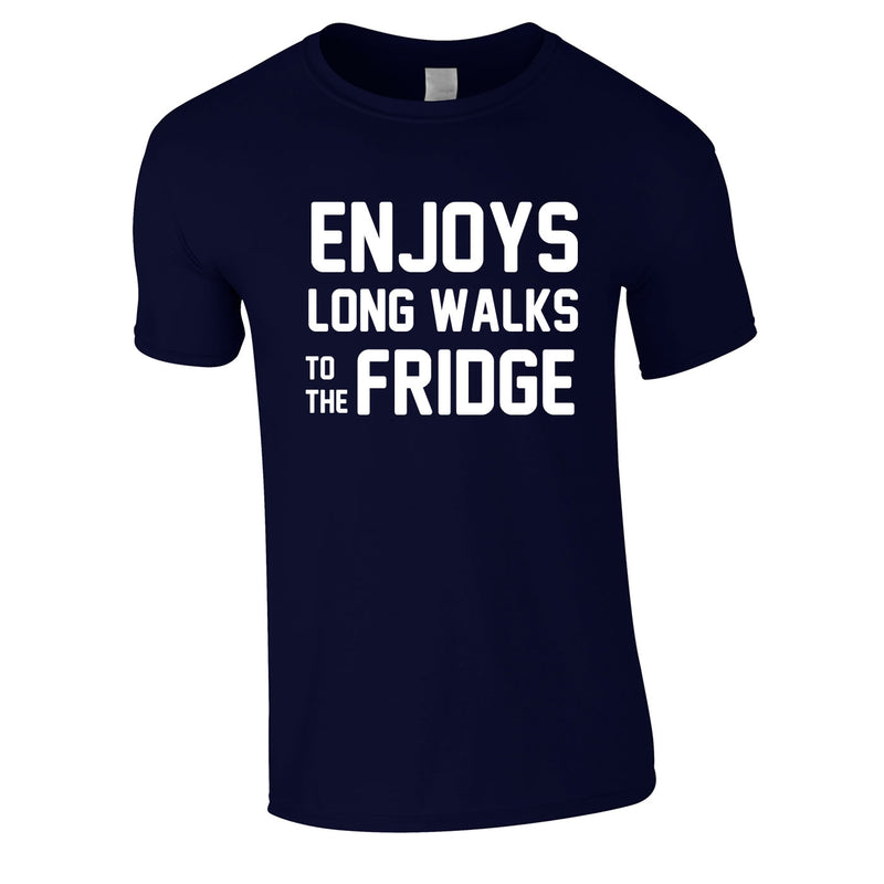 Enjoy's Long Walks To The Fridge Tee In Navy