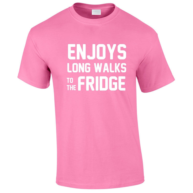 Enjoy's Long Walks To The Fridge Tee In Pink
