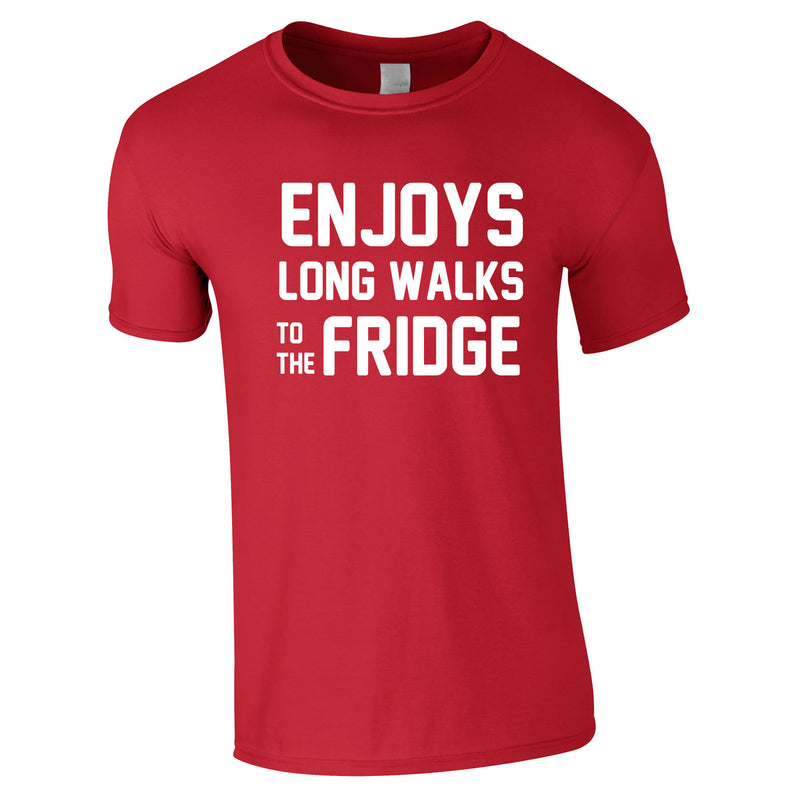 Enjoy's Long Walks To The Fridge Tee In Red