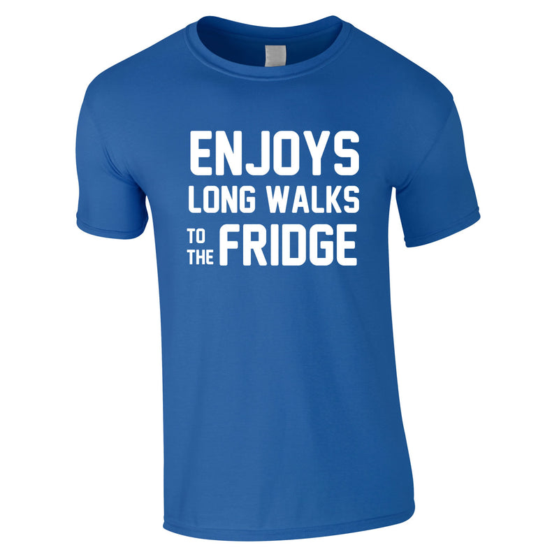 Enjoy's Long Walks To The Fridge Tee In Royal