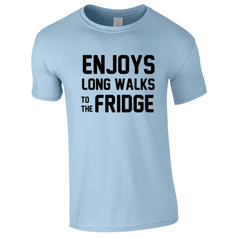 Enjoy's Long Walks To The Fridge Tee In Sky