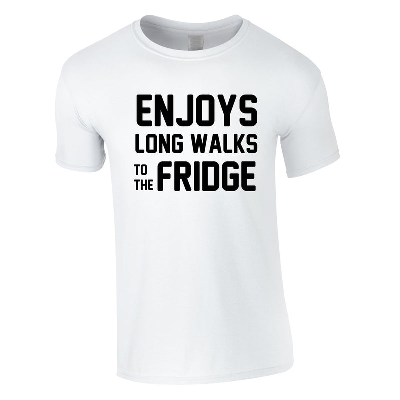 Enjoy's Long Walks To The Fridge Tee In White
