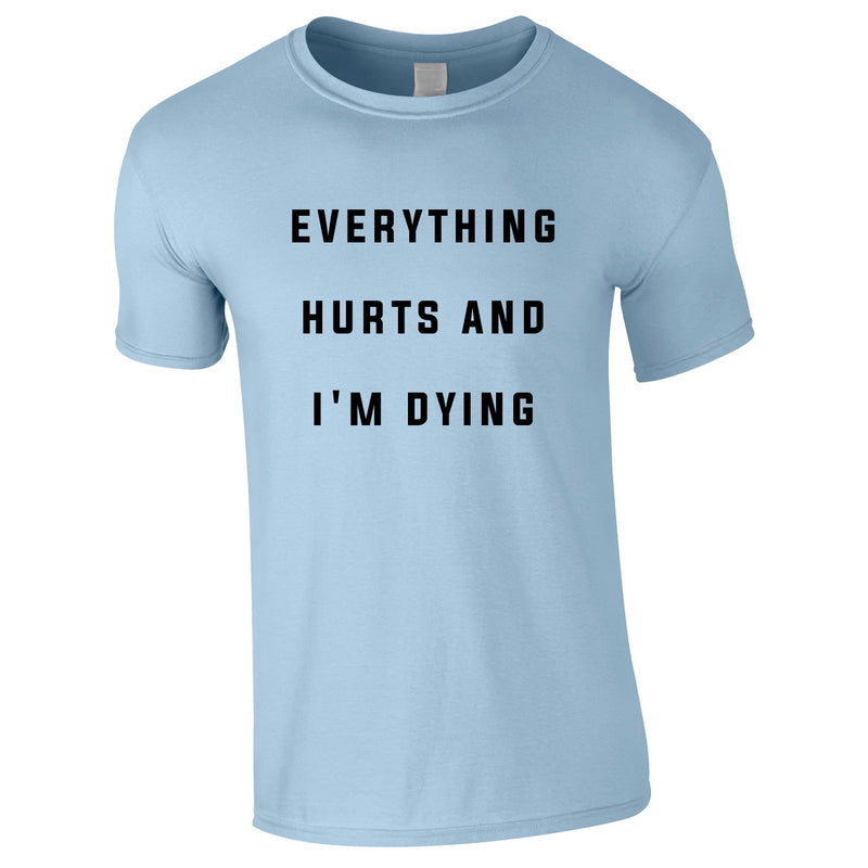 Everything Hurts And I'm Dying Tee In Sky