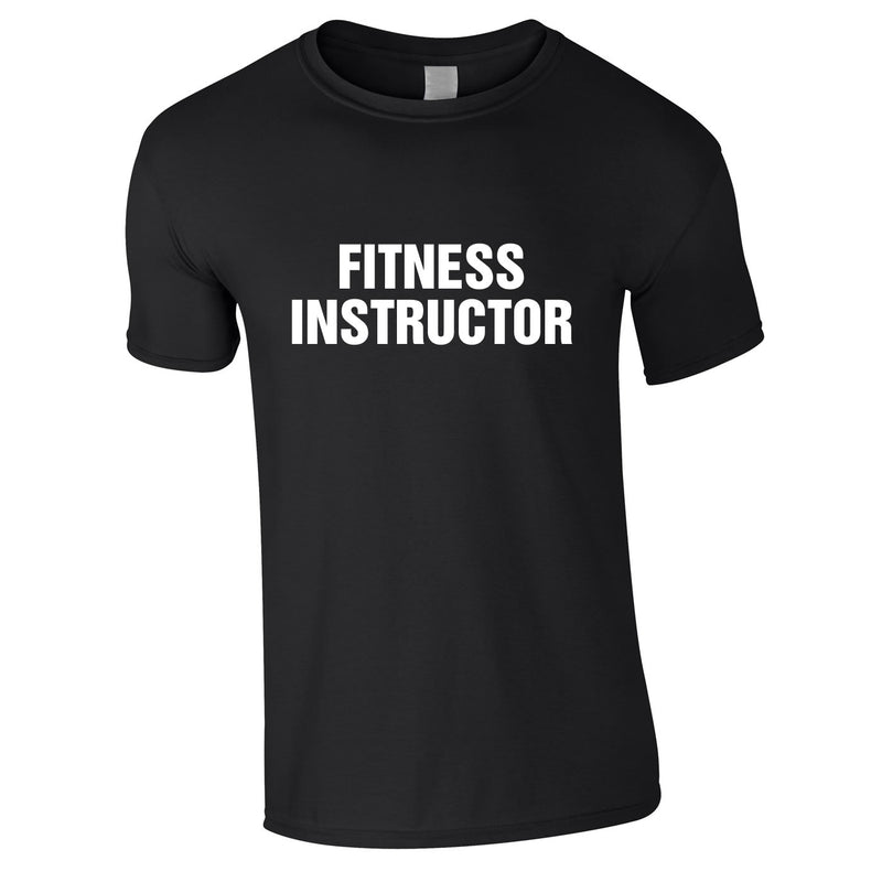 Fitness Instructor Tee In Black