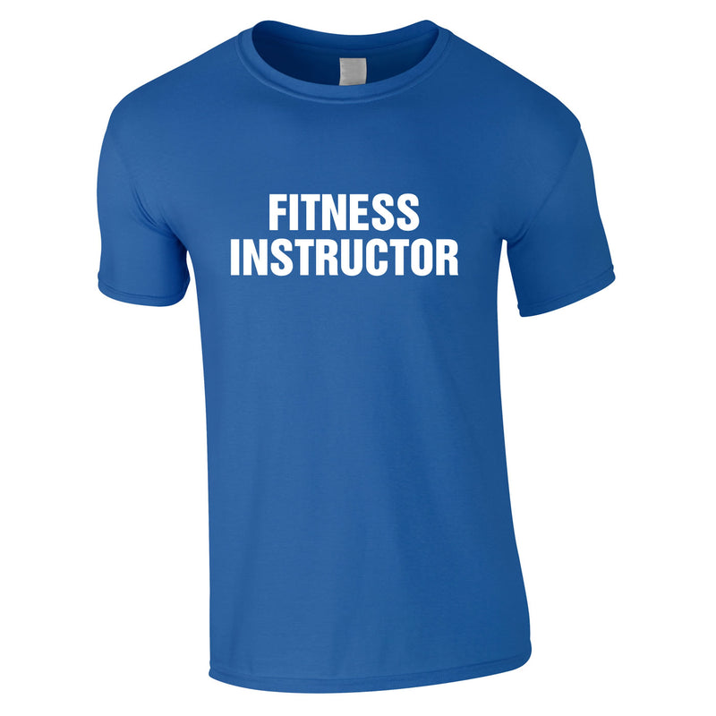 Fitness Instructor Tee In Royal