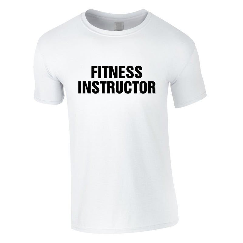Fitness Instructor Tee In White