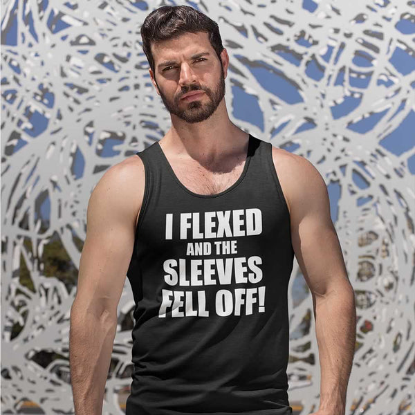 I Flexed And The Sleeves Fell Off Funny Vest Top For Men