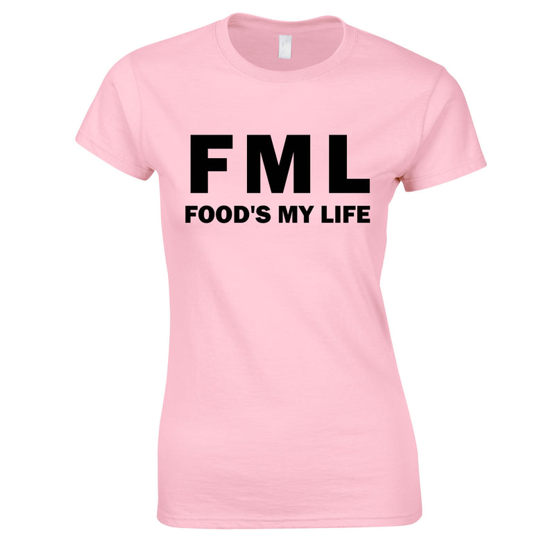 FML - Food's My Life Top In Pink