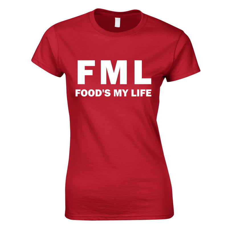 FML - Food's My Life Top In Red