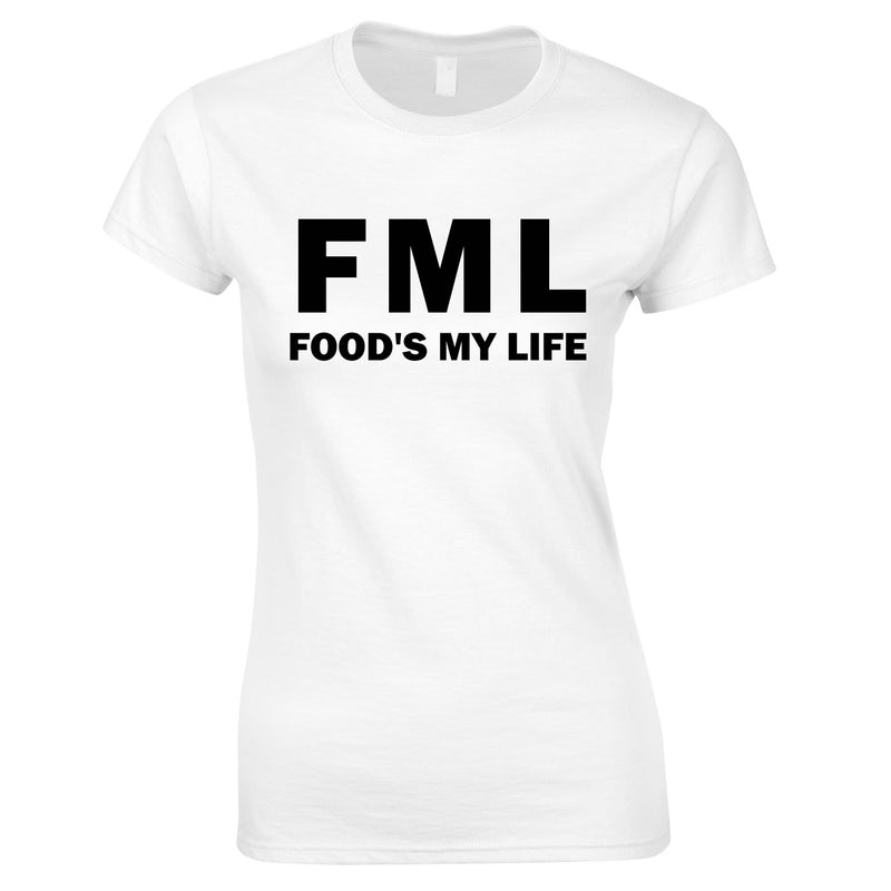 FML - Food's My Life Top In White