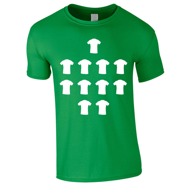 4-4-2 Formation Graphic Tee In Green