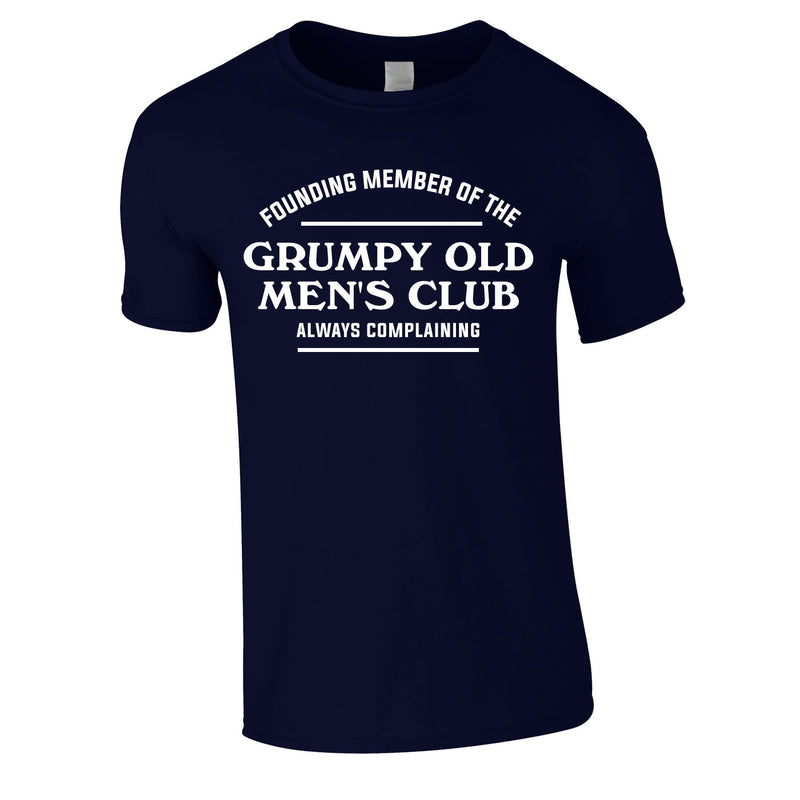 Founding Member Of The Grumpy Old Men's Club Tee In Navy